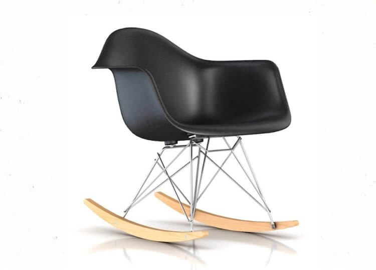 Eames Moulded Armchair Rocker Base Luke Furniture