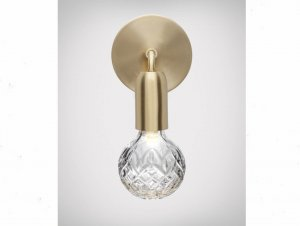 Clear Crystal Bulb Wall Lamp