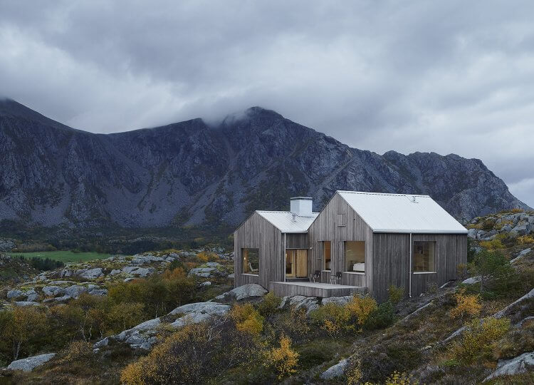 est living roundup log cabins window on the lake vega cottage kolman boye architects norway cabin 6 750x540