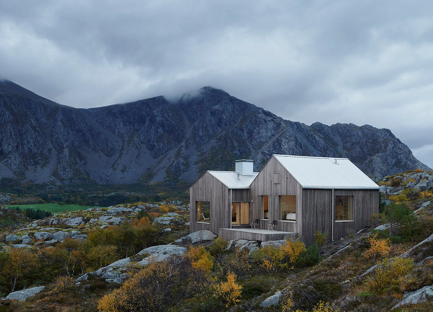 est living roundup log cabins window on the lake vega cottage kolman boye architects norway cabin 6