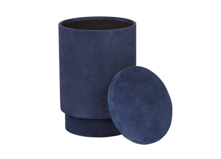 Suede Storage Stool