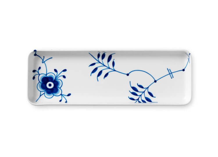 Blue Fluted Mega Rectangular Tray Royal Copenhagen
