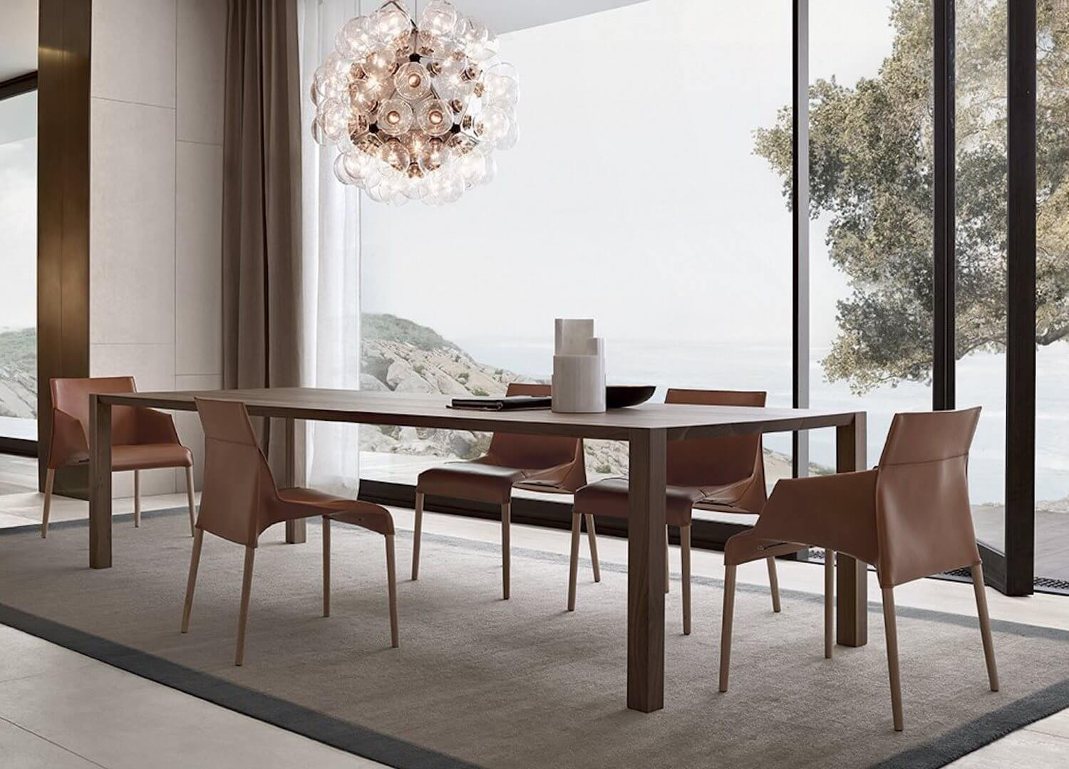 est living poliform dining blade table seattle chair 1
