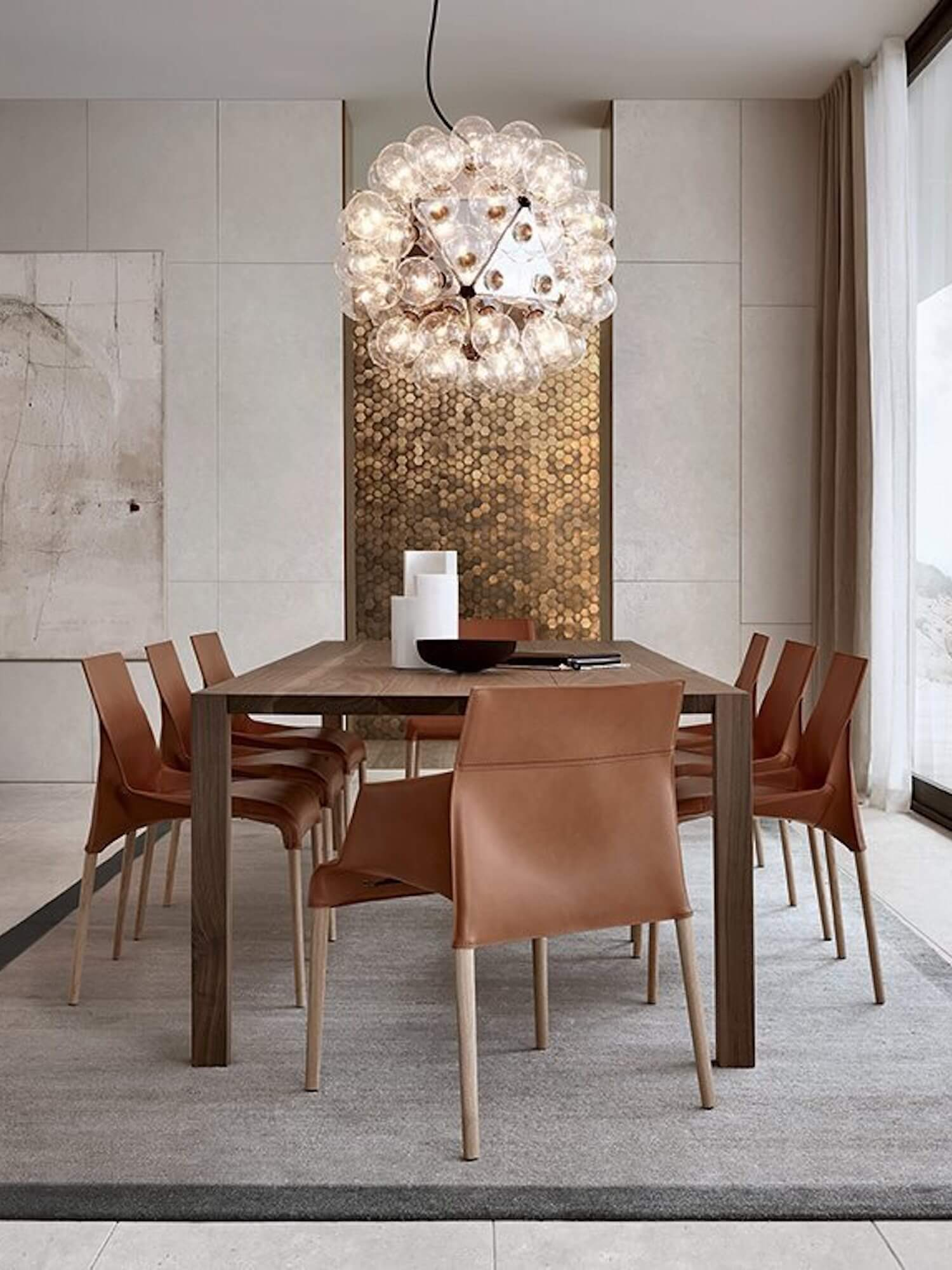 est living poliform dining blade table seattle chair 2