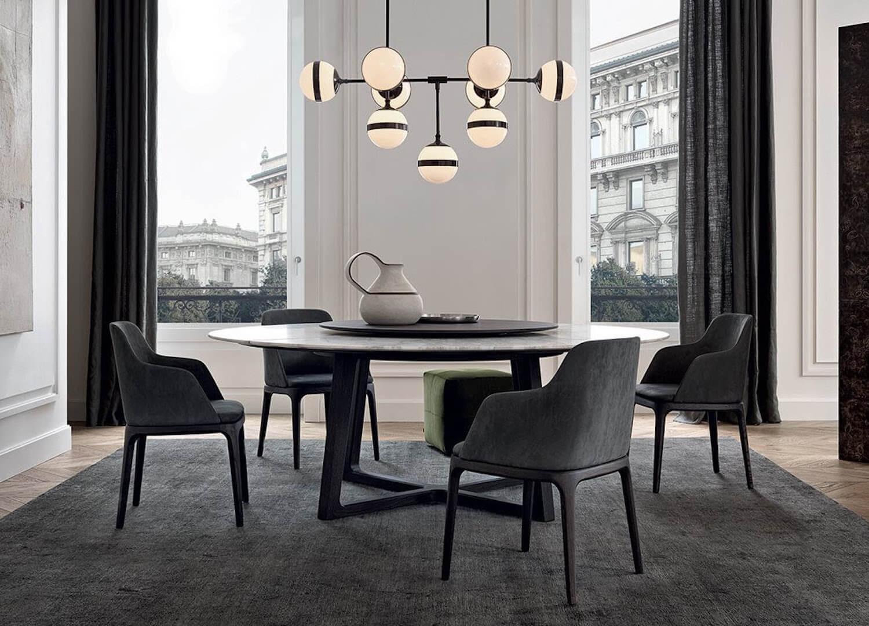 est living poliform dining concorde table grace chairs 1