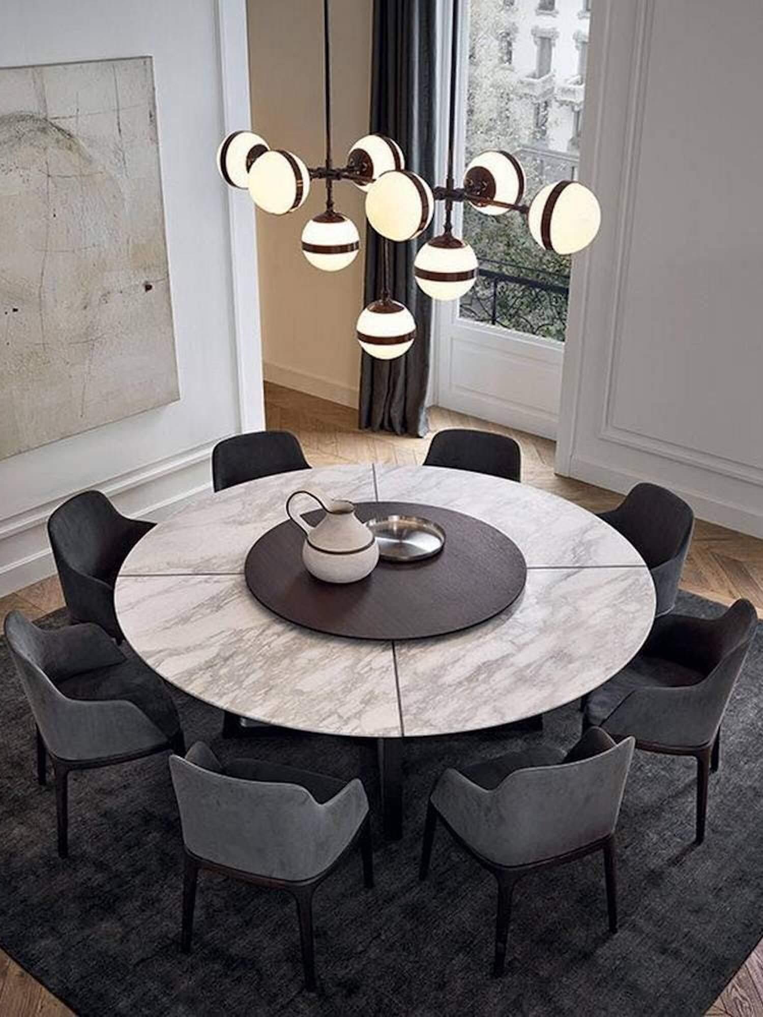 est living poliform dining concorde table grace chairs 2