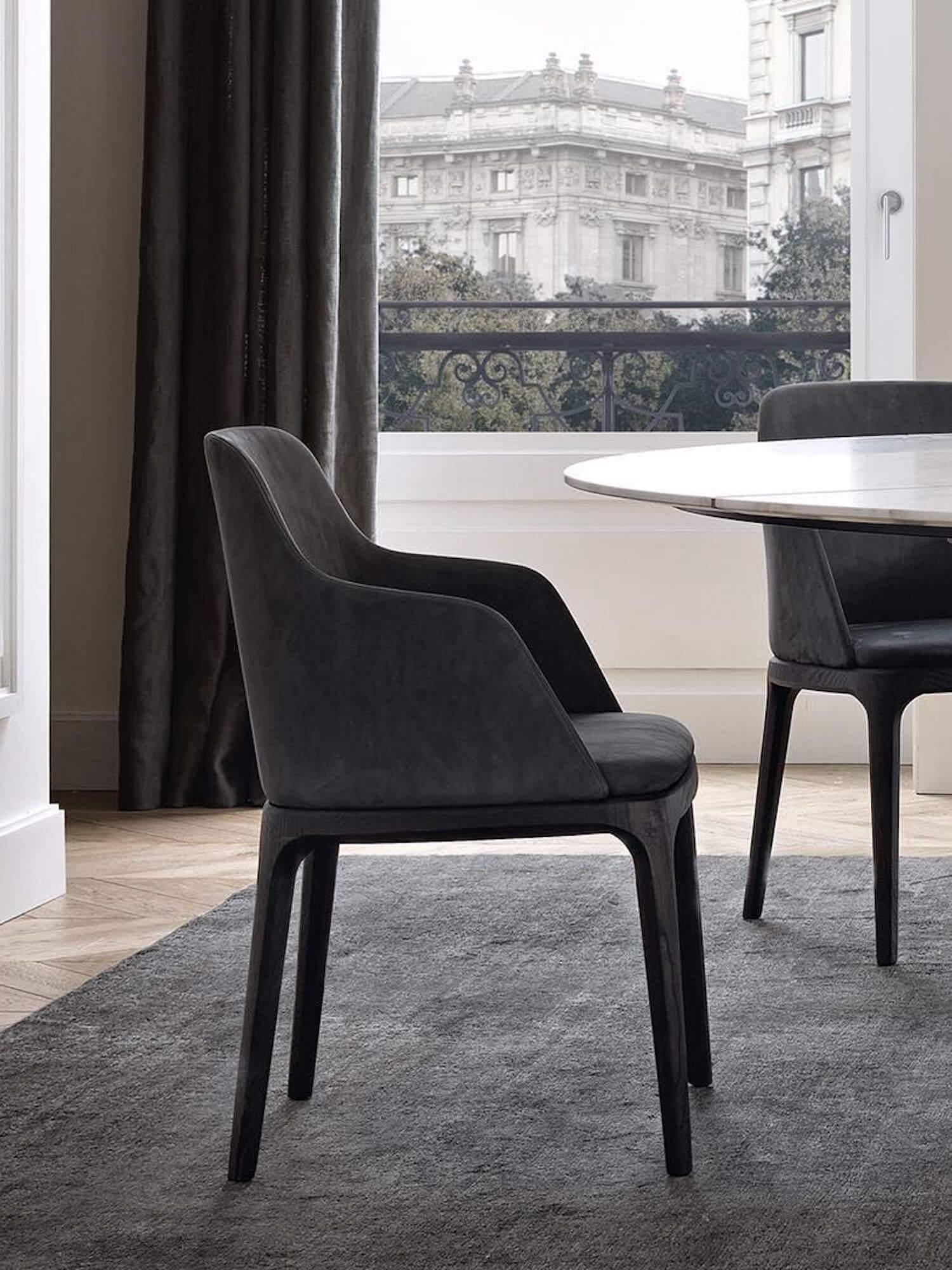 est living poliform dining concorde table grace chairs 4