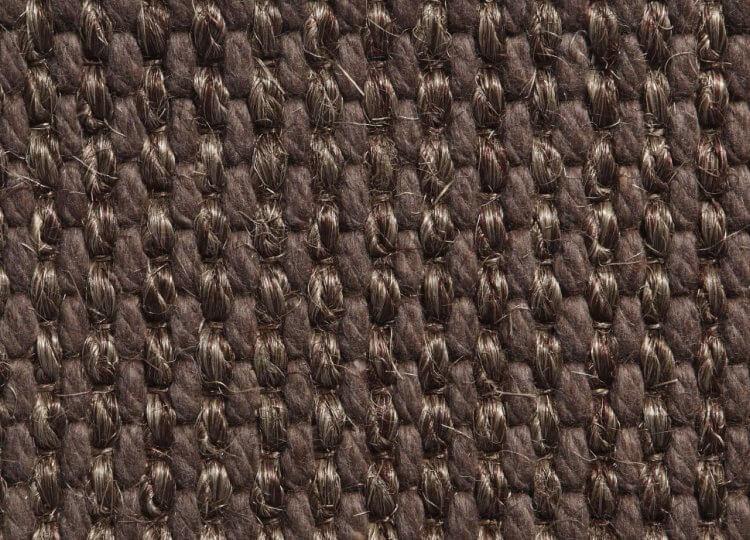 Belgian Ash Grey Basquette Wool and Sisal Carpet