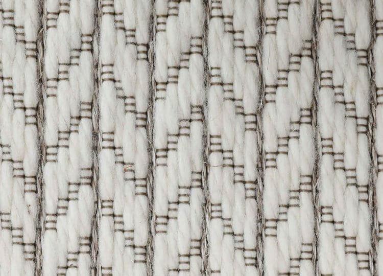 Belgian White Chevron Wool and Sisal Carpet