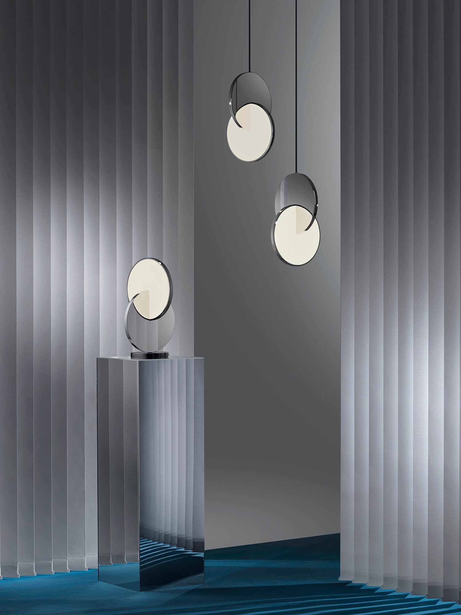 est living lee broom eclipse pendant and table lamp
