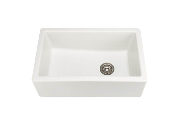 Chambord Philippe II Single Bowl Granit White