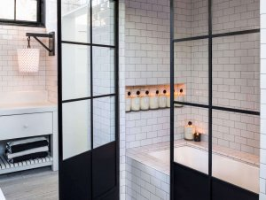 Bathroom: The Brick Home of Diane Keaton