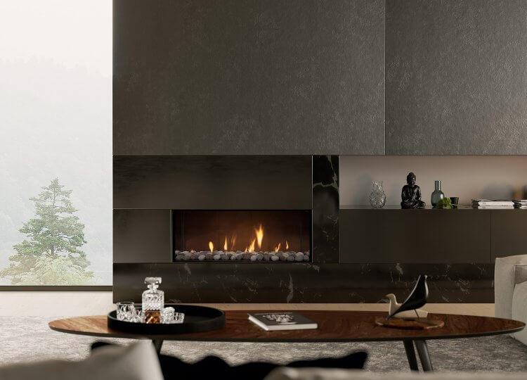 Escea DS1150 Gas Fireplace (Single Sided) Stoke