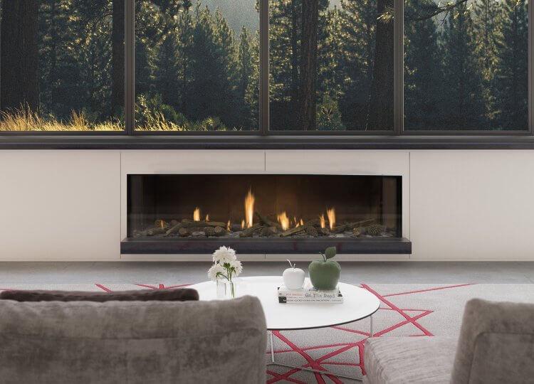Escea DS1650 Gas Fireplace (Single Sided) Stoke