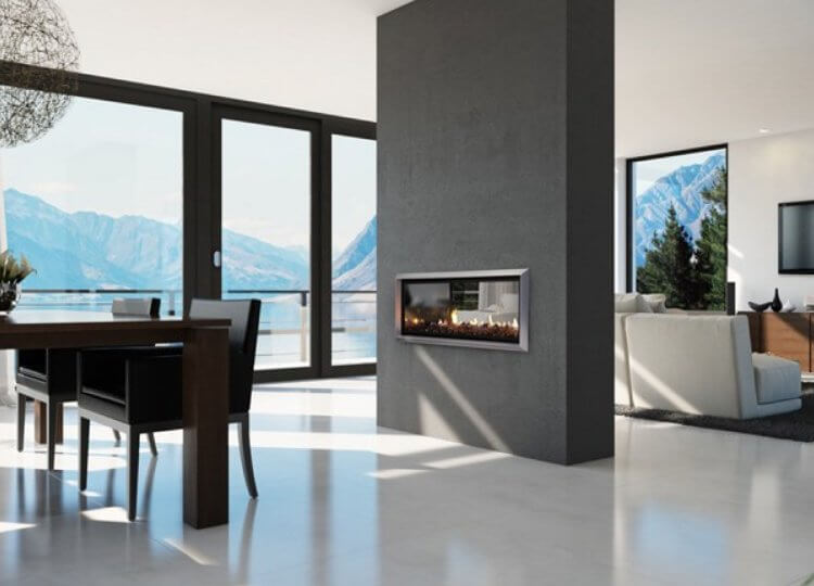 Escea DX1000 Gas Fireplace (Double Sided)