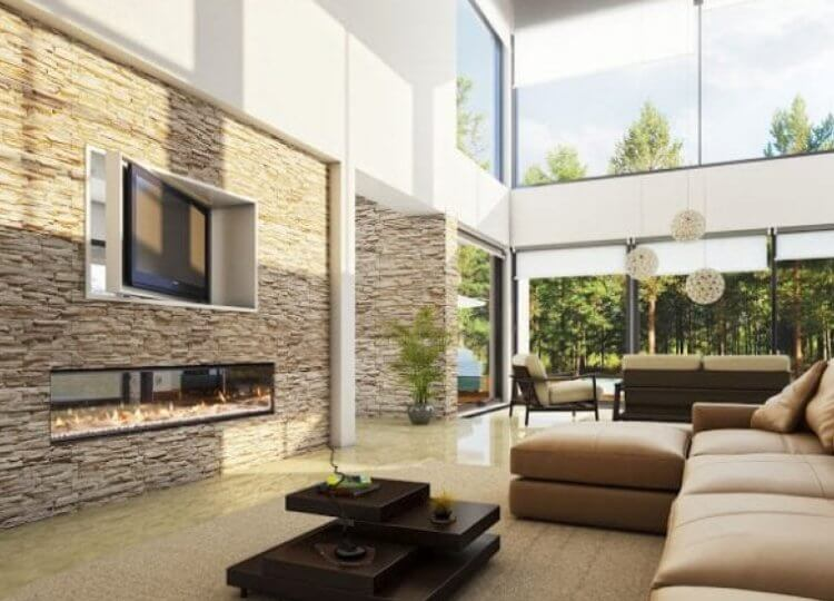 Escea DX1500 Gas Fireplace (Double Sided)