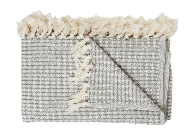 Loom Large Cotton Waffle Blanket Grey Loom Towels