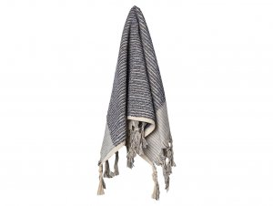 Loom Navy and Cream Stripe Hand Towel