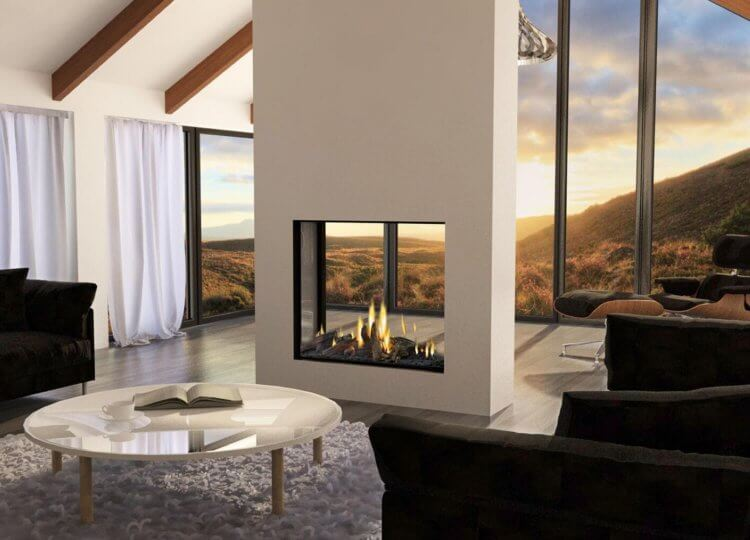 Mode Tall Gas Fireplace (Double Sided)