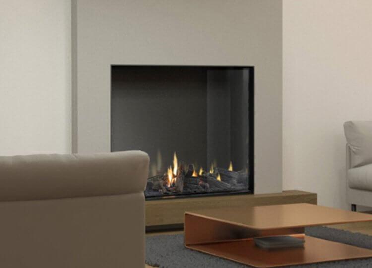 Mode Tall Gas Fireplace (Single Sided) Fireplace Stoke