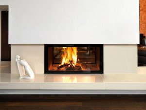 Spatherm Wood Fireplace (Double Sided)