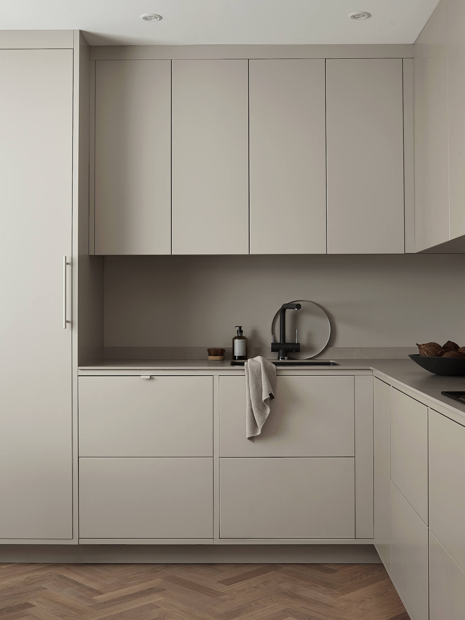 Grey Minimalist Kitchen by Nordiska Kok | Designing a Nordic-Style Kitchen