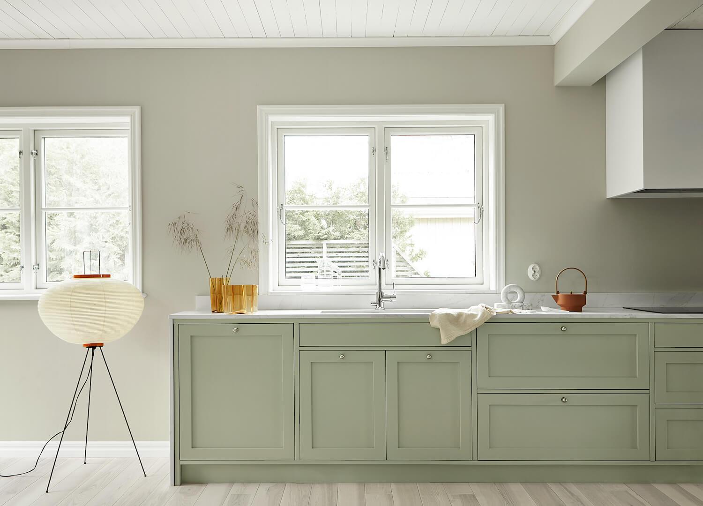 Pale Green Shaker Kitchen by Nordiska Kok | Designing a Nordic-Style Kitchen